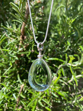 Load image into Gallery viewer, Teardrop Shaped Locket Sterling Silver Antique Glass - Mon Bijoux