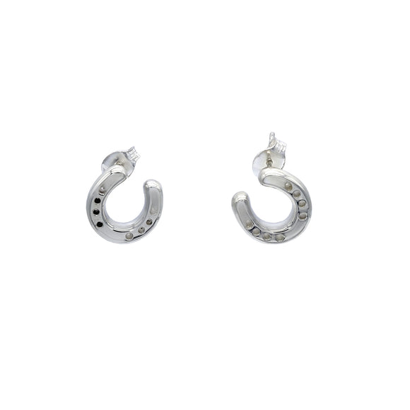 Small Sterling Silver Horseshoe Earrings for the Equine Lovers - Mon Bijoux - Mon Bijoux
