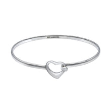 Load image into Gallery viewer, Open Heart Bracelet Bangle -Small - Mon Bijoux