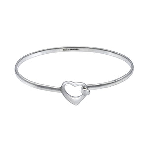 Open Heart Bracelet Bangle -Small - Mon Bijoux
