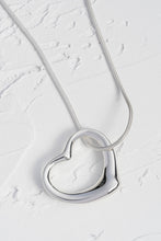 Load image into Gallery viewer, Large Open Heart Solid Silver Pendant