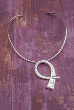 Load image into Gallery viewer, Torque Choker Collar Sterling Silver Necklace - Mon Bijoux - Mon Bijoux
