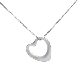 Small Hollow Heart Sterling Silver Necklace, Bangle and Earrings Set - Mon Bijoux - Mon Bijoux