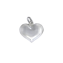 Load image into Gallery viewer, Love Heart Puffy Heart Sterling Silver Pendant - Mon Bijoux - Mon Bijoux