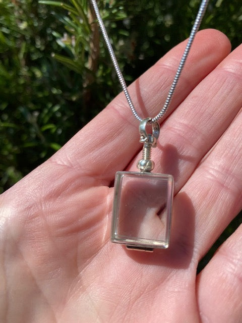 Rectangle Crystal Locket - The Perfect Keepsake Locket