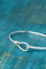 Load image into Gallery viewer, Spiral Lasso Silver Bangle - Mon Bijoux