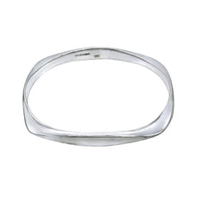 Load image into Gallery viewer, Square Bangle - Sterling Silver - Mon Bijoux