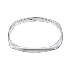 Square Bangle - Sterling Silver - Mon Bijoux