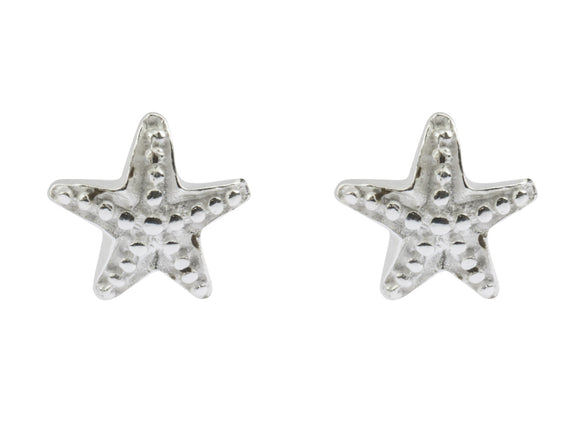 Starfish Stud Sterling Silver Earrings - Mon Bijoux