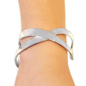 Thick X Cuff Bracelet Bangle - Mon Bijoux