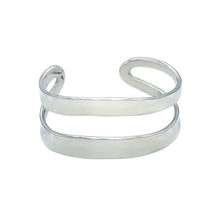 Load image into Gallery viewer, Thick Double Stripe Cuff Bracelet Bangle - Mon Bijoux