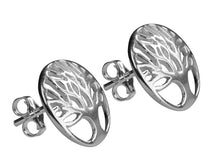 Load image into Gallery viewer, Tree of Life Stud Sterling Silver Earrings - Mon Bijoux