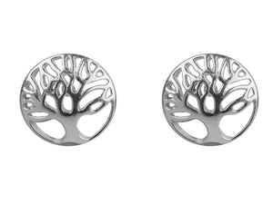 Tree of Life Stud Sterling Silver Earrings - Mon Bijoux