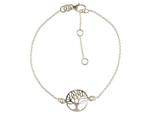 Sterling Silver Bracelet With Tree Of Life - Mon Bijoux - Mon Bijoux