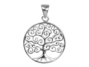 Sterling Silver Contemporary Tree of Life Pendant - Mon Bijoux