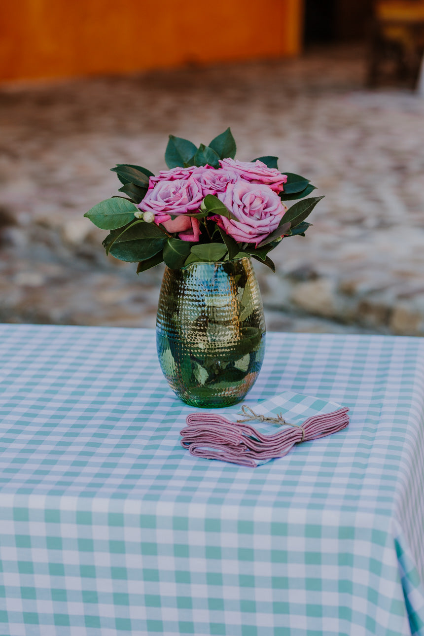 Mint & Rose Gingham LC Tablecloth
