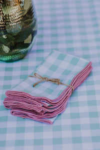 Mint & Rose Gingham LC Napkins