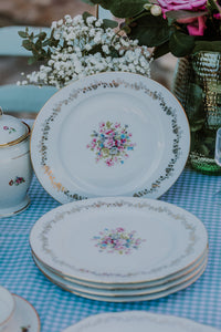 Gold & Flowers Plates