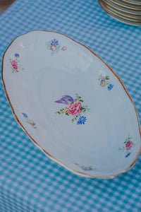Flowers oval tray