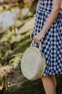 Small Round Straw Bag