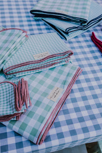 Mint & Rose Gingham SC Napkins