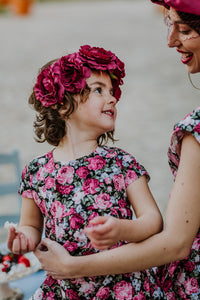 Girls Floral Vintage Dress