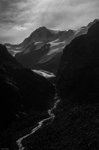 edge of glacier