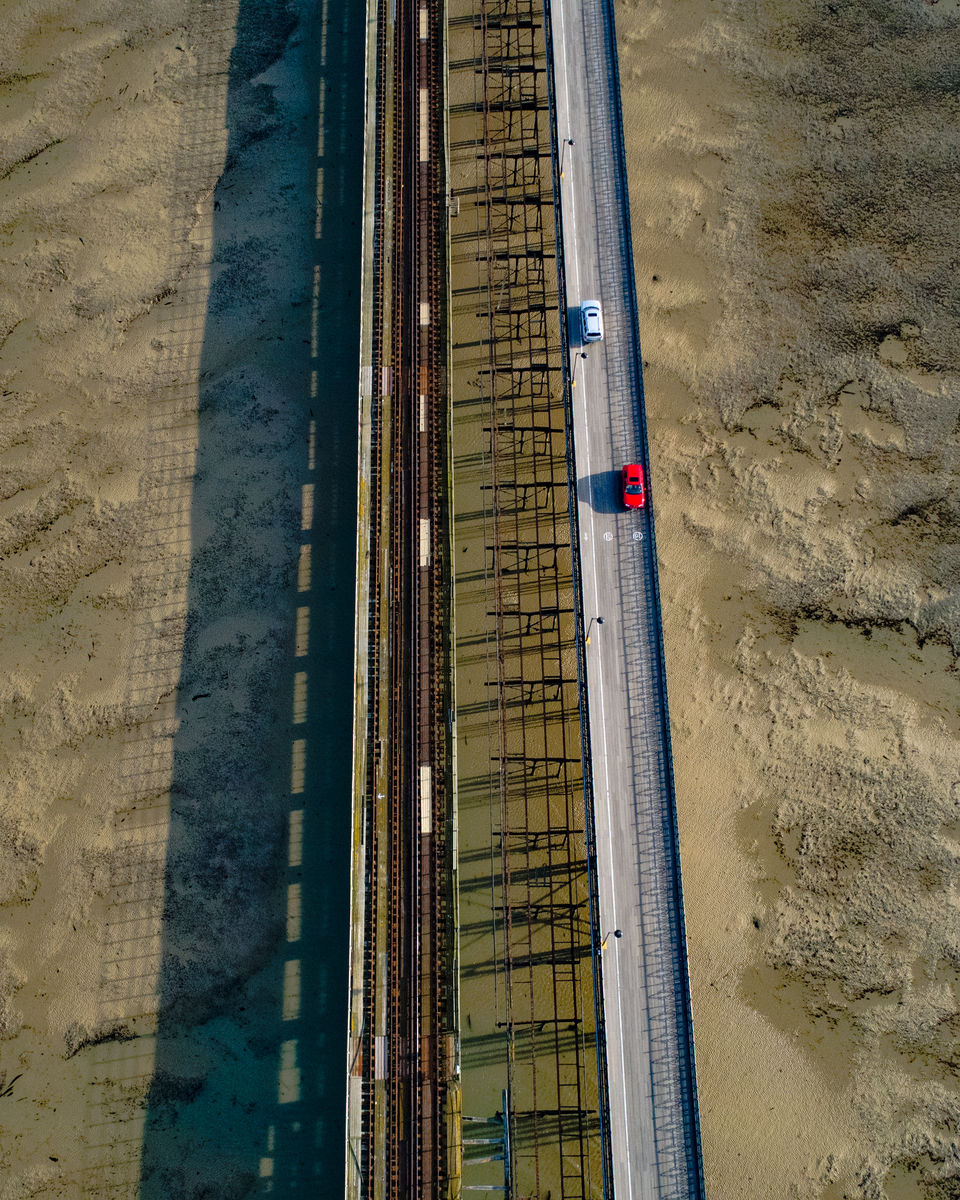 Long Bridge Low Tide Ryde Isle Of Wight by Drone