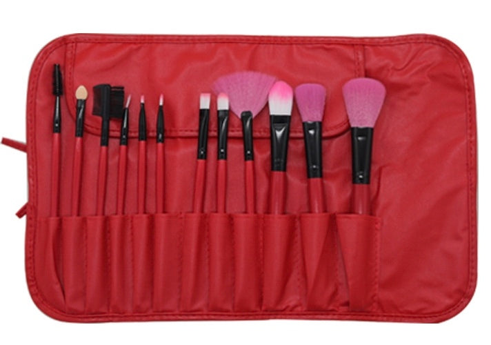 Professional Make Up Brushes 12 Piece Cosmetic Brush Set Eyeshadow Blusher Sets
