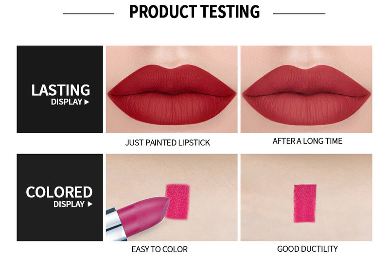 LONG LASTING VELVET MATTE LIP COLOR WATERPROOF LIPSTICK PIGMENT MAKEUP