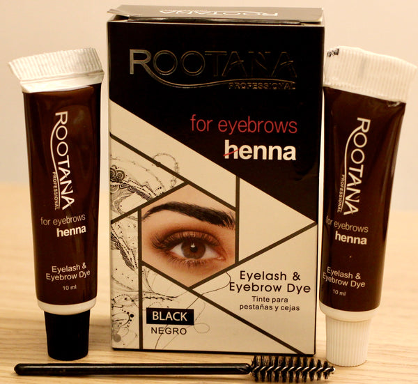 HENNA EYEBROW EYELASH TINT Professional Brow Dye Cream Black Brown Coffee 2x10ml