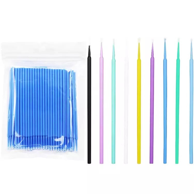 100PCS Disposable Lash Eyelash Micro Brush Mascara Wands Applicator Makeup Tool