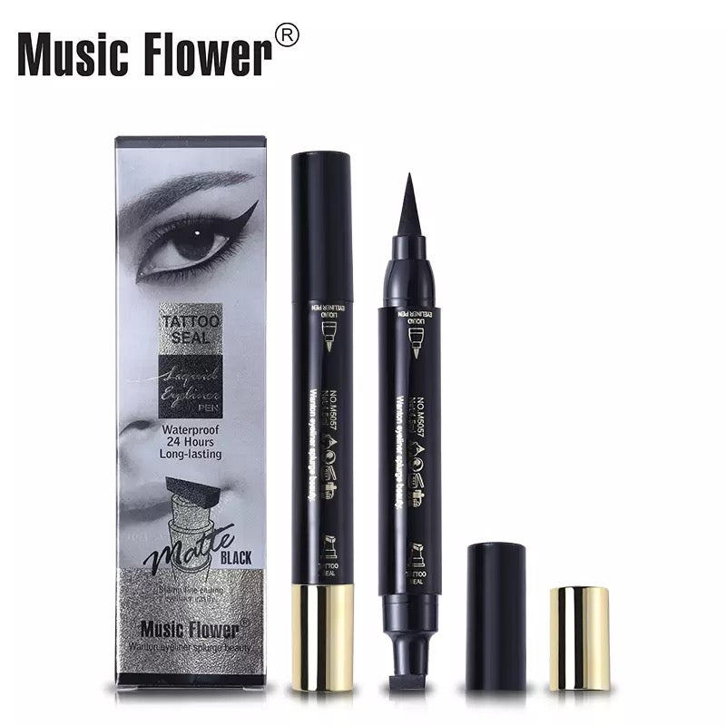 Black Winged Eyeliner Stamp EyeLiner Pencil Liquid Pen,Vamp,Cat Eye Music flower