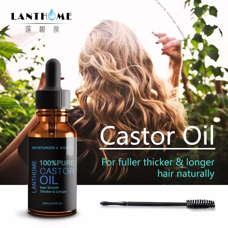 100% Pure Organic Castor Oil for Eyelashes Eyebrows Hair Growth Body Care Oil