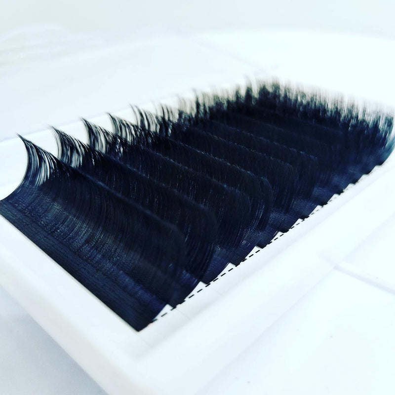 Russian Volume Auto Flourishing Lashes 0.10, 0.07, 0.05 100% Mink Eyelash Extensions CURL C D