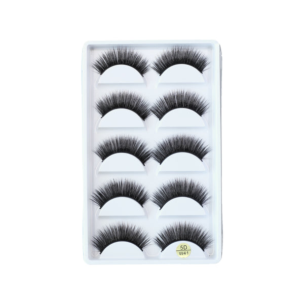 5 Pairs False Eyelashes Long Thick Natural Fake Eye Lashes Set Mink Makeup (W41)