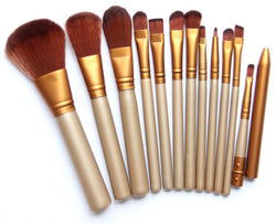 12pcs Kabuki Foundation Blusher Professional Make up Brush Brushes Set Makeup