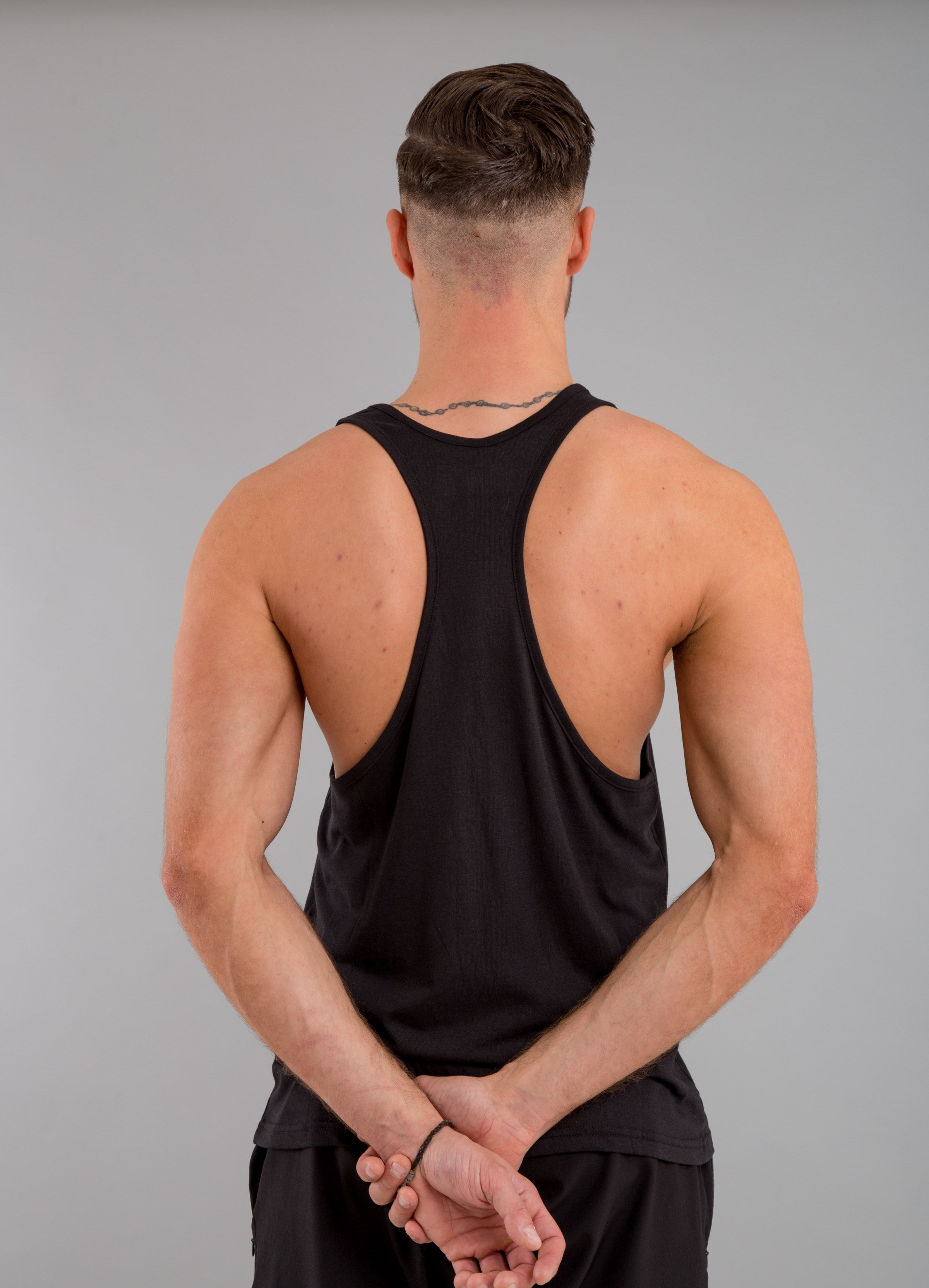 Identity Muscle Vest (Black) - Identity Apparel Clothing