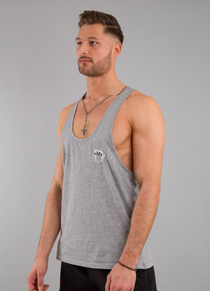Identity Muscle Vest (Light Grey) - Identity Apparel Clothing