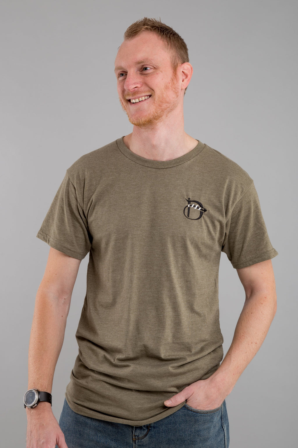 Identity Long Line Urban T-Shirt (Olive) - Identity Apparel Clothing