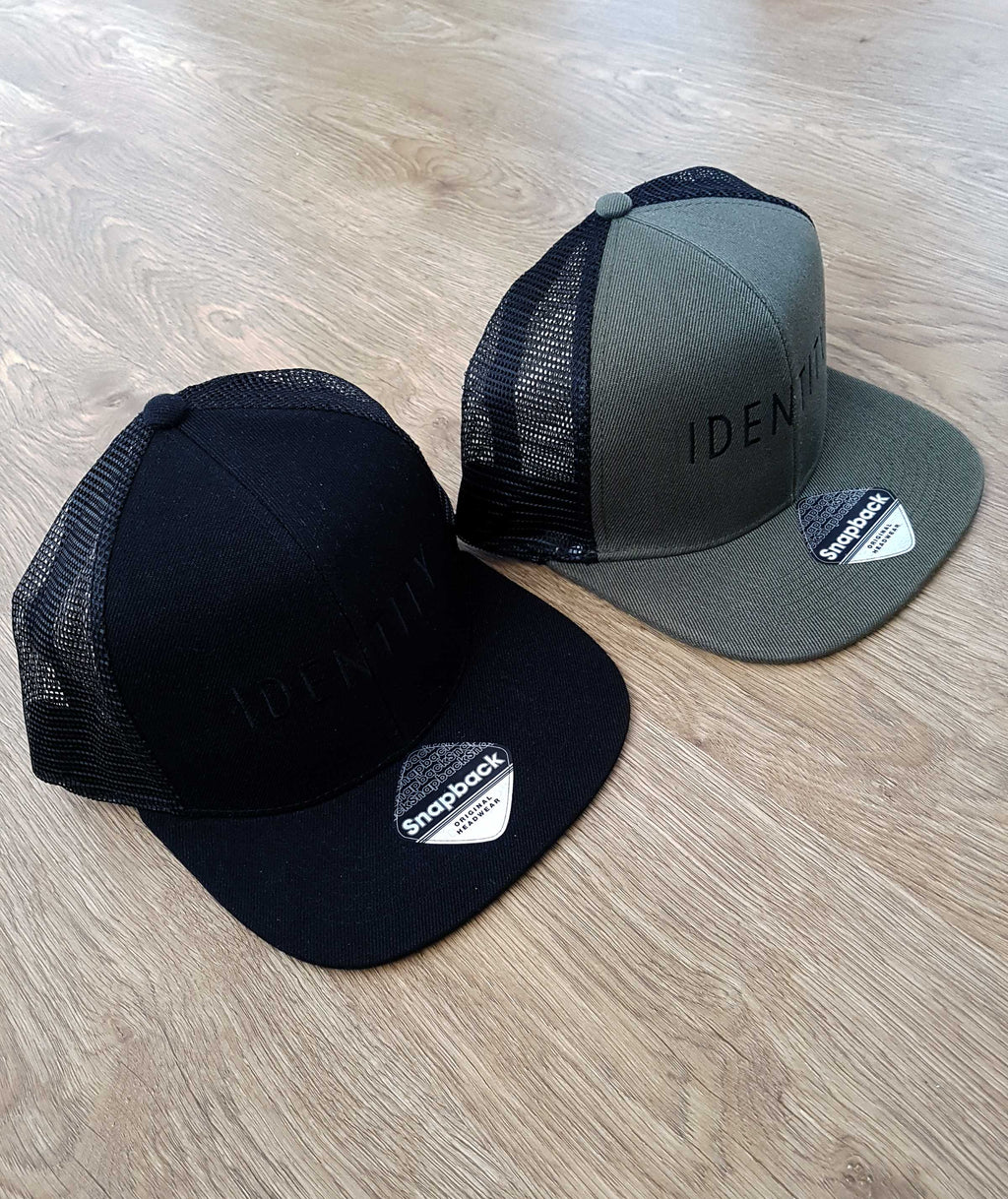 Mens Statement Flat Peak Trucker Cap (2 Colour Options)