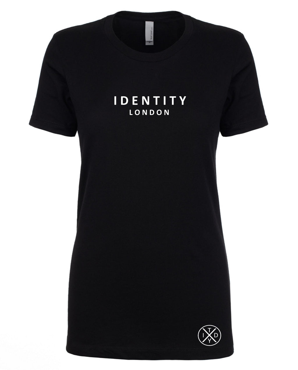 Womens Statement London T-Shirt (Black)