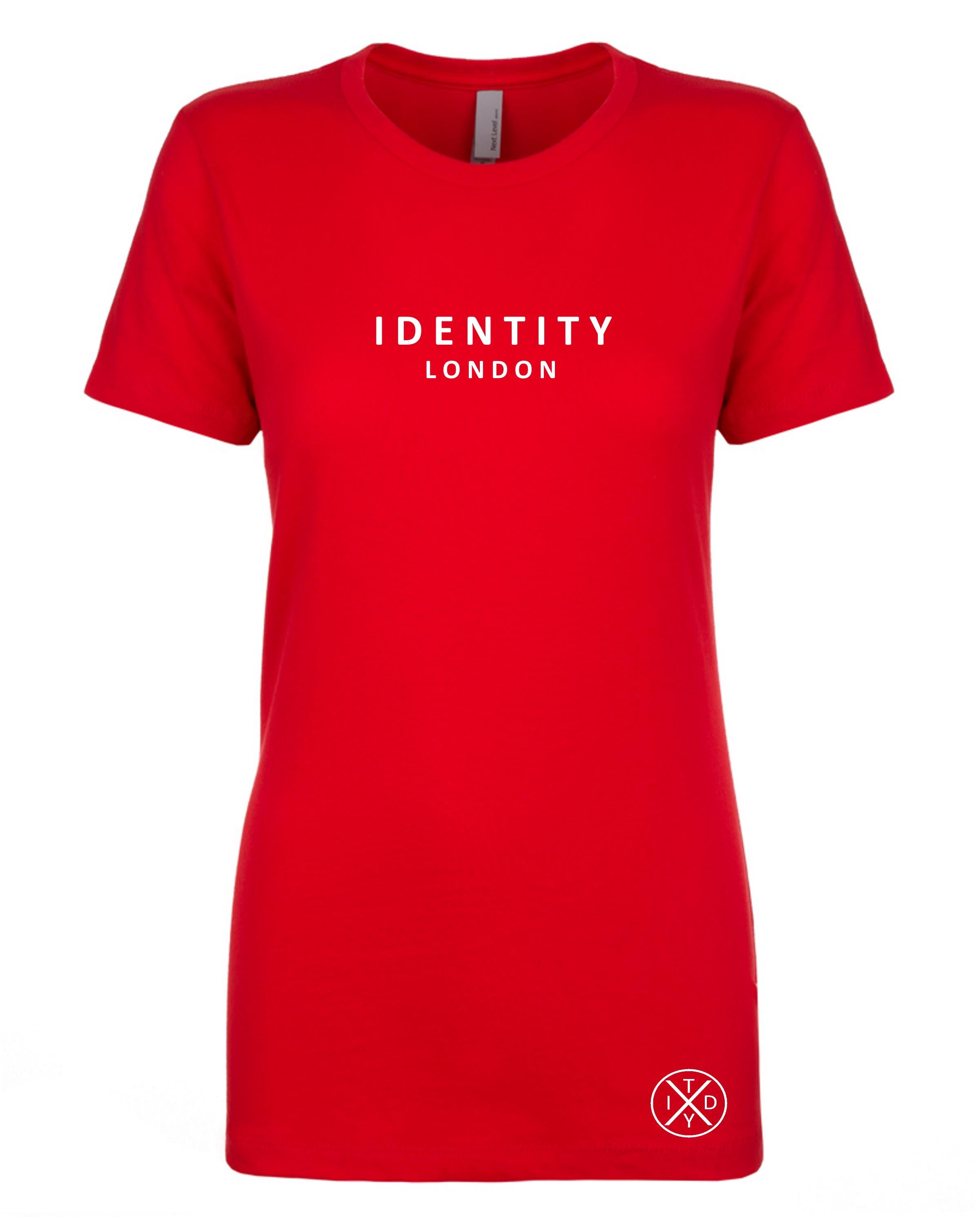 Womens Statement London T-Shirt (Red)