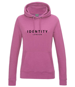 Womens Statement College Hoodie (Candy Pink)