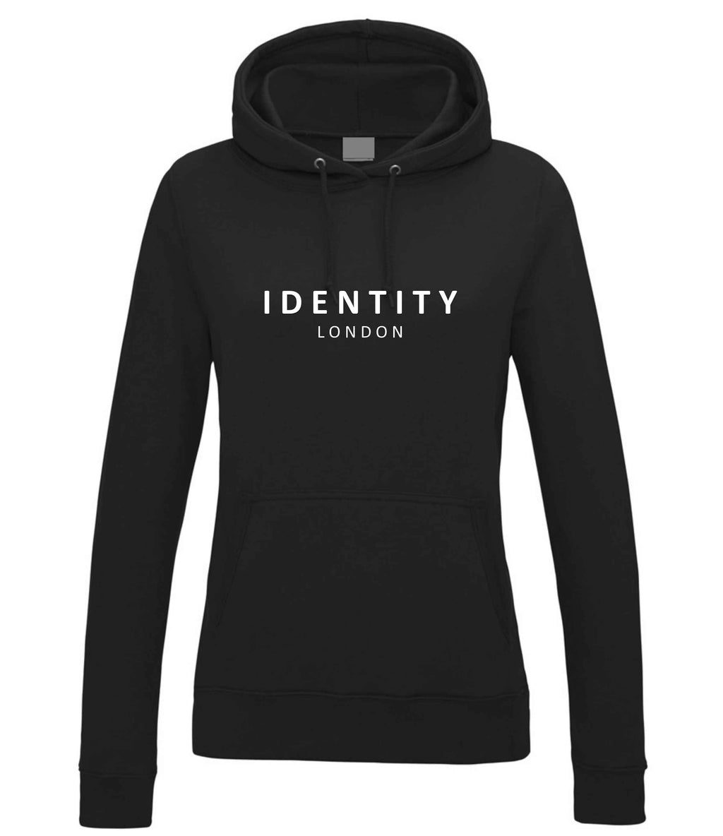Womens Statement College Hoodie (Black)