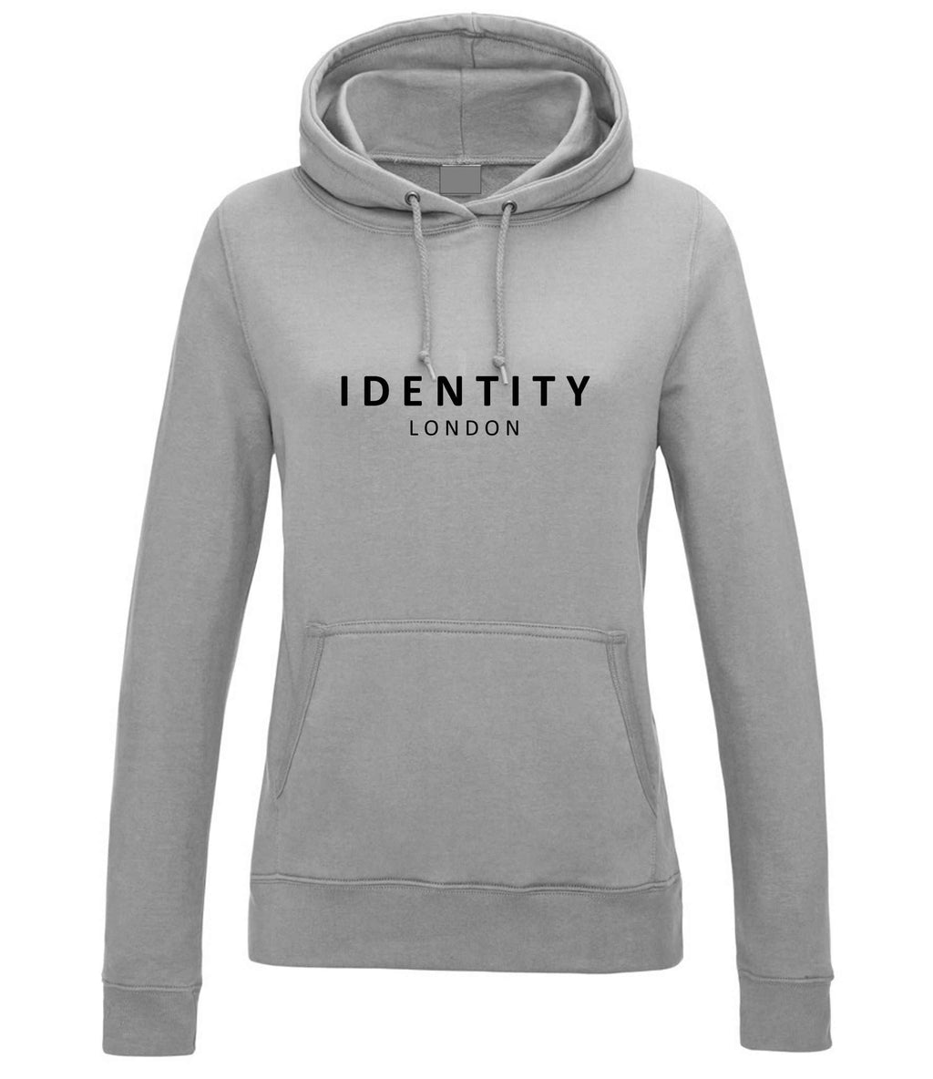 Womens Statement College Hoodie (Light Grey)