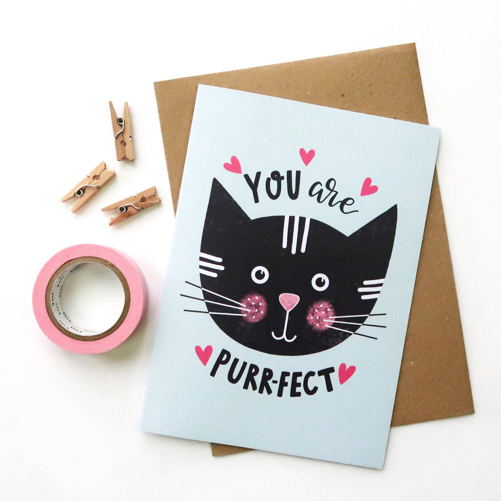 You Are Perfect A6 Card - The Cute Cats Collection