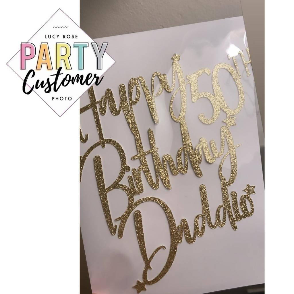 Personalised Birthday Age Cake Topper / Customised 1st Birthday Cake Topper / Milestone Birthday / Cake Decoration / Custom Name Topper Sign
