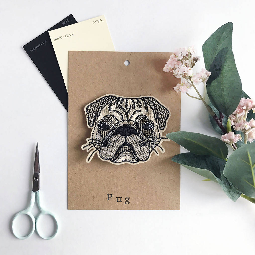 Pug Badge, Dog Badge