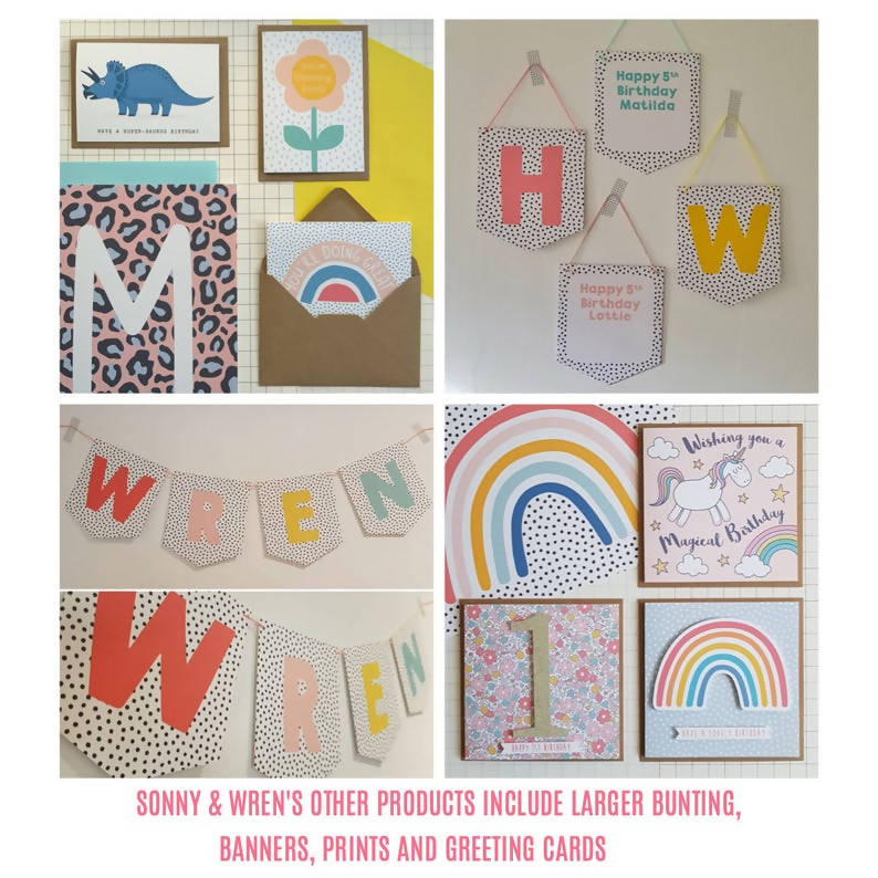 Name bunting / rainbow name bunting / personalised bunting / children's letter bunting / nursery bunting / nursery decor / party garland